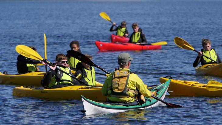 Kayak traning at Nansen Coast Camp in Arendal
