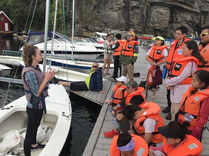 Planning sailing at Nansen Coast Camp Kragerø