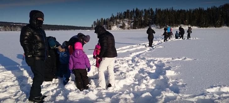 Ice fishing Nansen Winter